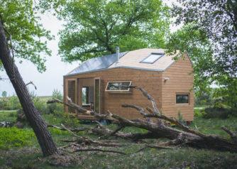 De tiny house van Marjolein in het klein, ontworpen door Walden.