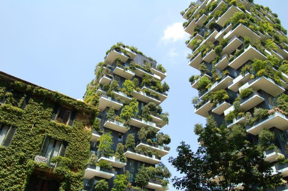 De Bosco Verticale torens in Milaan