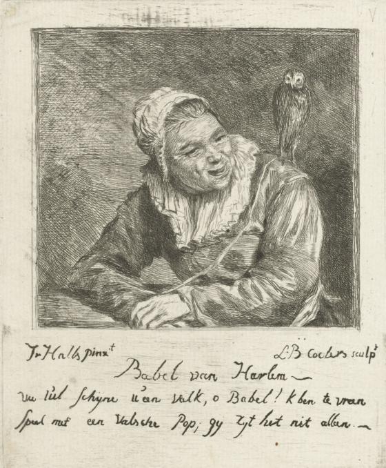 Malle Babbe, naar een ets van Frans Hals