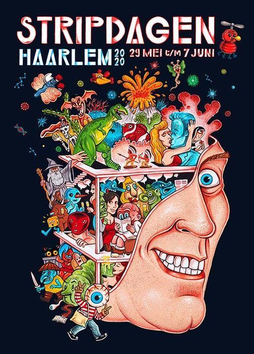 Affiche voor de Stripdagen in Haarlem