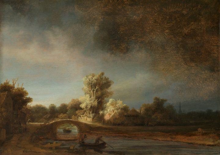 Rembrandt - Landschap met stenen brug