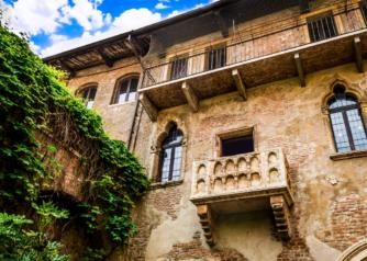 Het balkon van Romeo en Julia