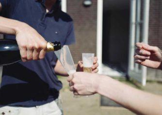 Starters met champagne